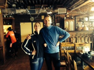 Op dinsdag 17 febr. op de ijsbaan van Hoorn met oud-collega Lucinda Boots geschaatst (uiteraard met de roeifiets er heen)