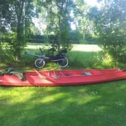 Witmarsum op de roeifiets met rondje kanoën bij Bolsward