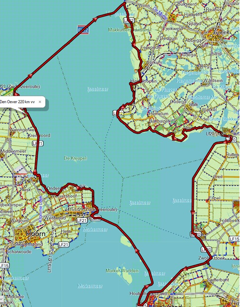 Rondje IJsselmeer: lekker kilometers maken